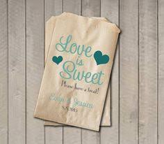 candy bar bags personalized a sweet beginning wedding favor bags candy buffet bags