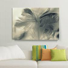 feather home decor 2018 white gray feather photo print canvas painting home decor