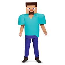minecraft steve costume buy minecraft steve deluxe child costume