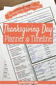your all in one printable thanksgiving dinner planner dinner