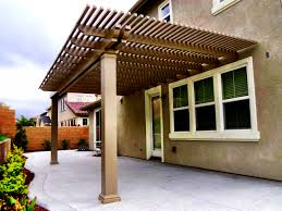 Patio Cover Designs Pictures by Exterior Design Simple Alumawood Patio Cover With Outdoor Bench