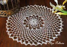 Rose Petal Table Cloth Lacy Crochet Free Doily Patterns