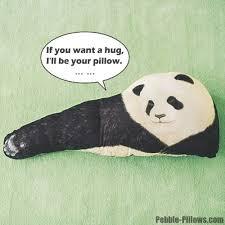 Cushion Pets Fun Design Panda Pillow Pets Hug Pillow 33 15 7in Living Stone