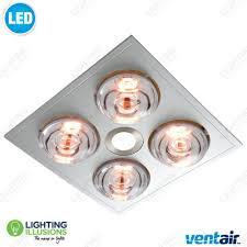 white myka 4 bathroom u00273 in 1 u0027 heat led light and exhaust fan