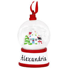 personalized mini snow globe with house ornament novelty