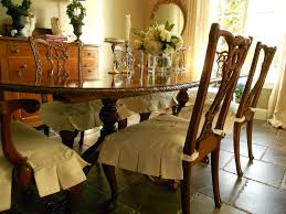 Burlap Dining Chairs Dining Room Chair Slipcovers For Every Taste Latest Home Decor