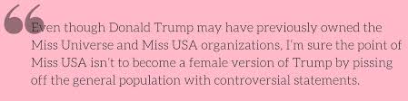 the miss usa 2016 pageant begins to resemble a political debate
