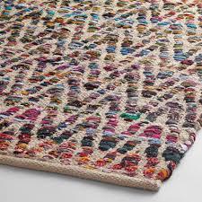 chevron recycled cotton chindi area rug world market