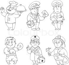 professions cook postman policeman boxer doctor fireman