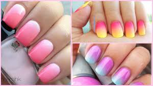 diy ombré nail art easiest tutorial ever styledbyaishyee