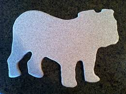 Corian Chopping Board Corian Cutting Board English Bulldog Shaped By Tuckersmercantile