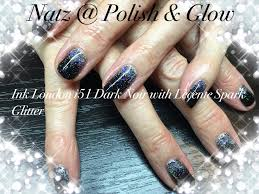 ink london i51 dark noir with lecente spark glitter by natz