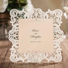 aliexpress com buy laser cut wedding invitations cards white