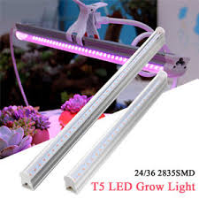 t5 vs led grow lights 5 7w t5 full spectrum led grow light bar tube hydroponic indoor veg