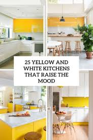 white kitchen cabinets turned yellow 25 yellow and white kitchens that raise the mood digsdigs