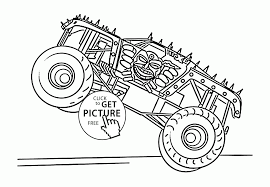 monster truck max d coloring page for kids transportation