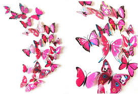 Realistic 3D Butterfly Wall Decoration Pack of 12 – Shawn