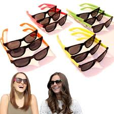 party city halloween party favors amazon com neon sunglasses 80 u0027s retro vintage party sunglasses