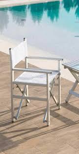 chaise metteur en chaise contemporaine avec accoudoirs de metteur en scène en