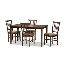 4 Piece Dining Room Set Baxton Studio Tiffany 5 Piece Modern Dining Set In Espresso Brown