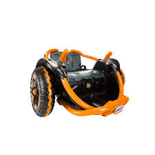 nerf car video review for power wheels wild thing orange showcasing