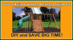 how to build a wooden backyard swing set youtube