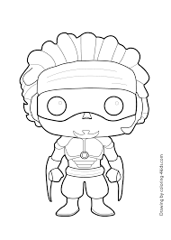 wasabi no ginger hero boy coloring page for kids printable free