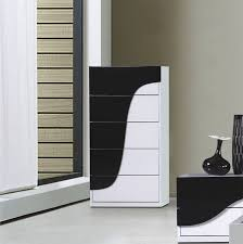 Modern Black Nightstand Furniture Modern Black And White Chest Furniture Storage Set With