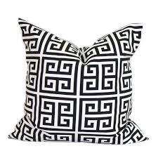 greek key home decor black white greek key chevron leopard canvas cushion cover