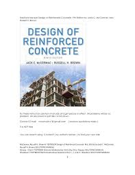 solutions manual design of reinforced concrete 9th edition by jack c u2026
