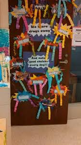 Red Ribbon Week Door Decorating Ideas Great Idea For Red Ribbon Week Red Ribbon Week Pinterest