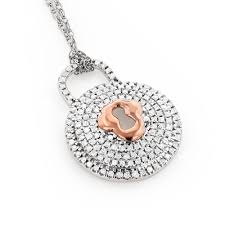 lock pendant necklace images Gold diamond lock pendant necklace for women 0 30ct 10k jpg