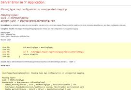 Request Mapping C Automapper Missing Type When Mapping Database Model From