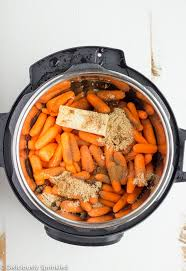 instant pot brown sugar glazed carrots deliciously sprinkled