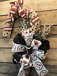 christmas wreath steelers candy cane door décor pittsburgh