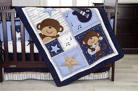 Blue And Brown Crib Bedding by Amazon Com Carter U0027s Monkey Collection 4 Piece Crib Set Baby