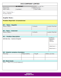 8d report template 8d report format sles word document