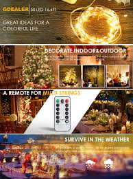 Decorating With Christmas Lights Year Round Amazon Com Gdealer 4 Pack Fairy Lights Fairy String Lights