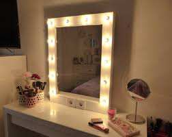 Makeup Vanity Table With Lights And Mirror Hollywood Lighted Vanity Mirror Large Makeup Mirror With
