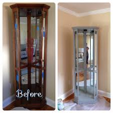 Curio Cabinets With Glass Doors Curio Cabinet Curio Cabinet Redo With Sliding Doors Wall