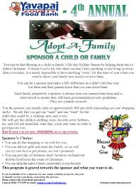 adopt a family for
