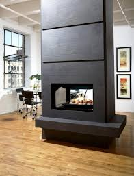 Indoor Outdoor Wood Fireplace Double Sided - double sided wood burning fireplace binhminh decoration