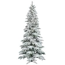 the aisle flocked utica fir 6 5 white artificial