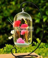 hanging glass terrarium candle holder wholesale bulk wedding cheap