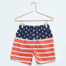 American Flag Swimming Trunks Us Flag Swim Shorts Boys 4 To 12 Years Red Kiabi 8 00eur