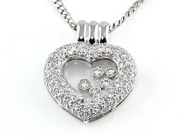 floating heart pendant necklace images Happy heart floating diamond pendant in 18 karat white gold jpg