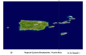 Puerto Rico Map Us by Hurricane And Tropical Storm Watch Warning Breakpoints