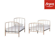 the collection aurelie rose gold metal bed frame single double
