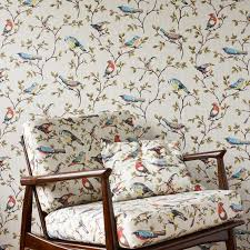 wallpaper with birds retro wallpapers our pick of the best ideal home
