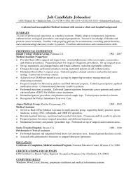 Applicant Resume Example by Medical Resume Template